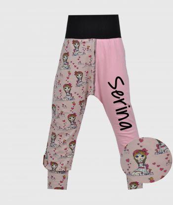 Cosy Pants Girls Pink/Black