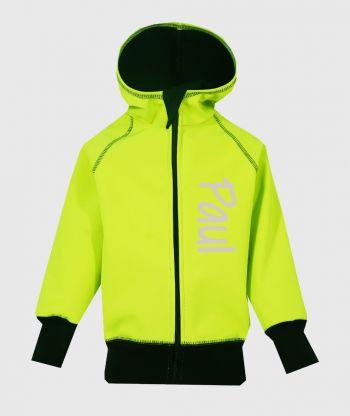 Waterproof Softshell Hoodie Neon Green
