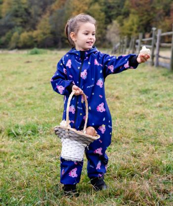 Waterproof Softshell Overall Comfy Happy Bears Jumpsuit