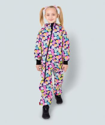 Waterproof Softshell Overall Comfy Fluffy Toys Jumpsuit