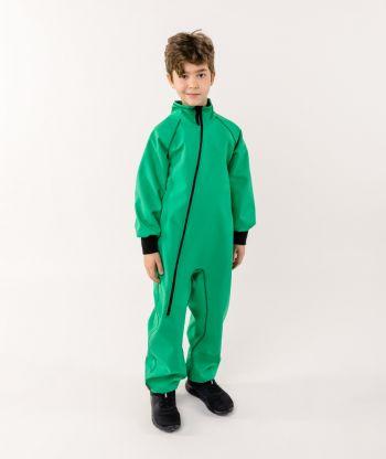 Waterproof Softshell Overall Comfy Avocado Green Bodysuit