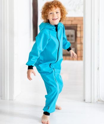 Waterproof Softshell Overall Ice Blue Jumpsuit