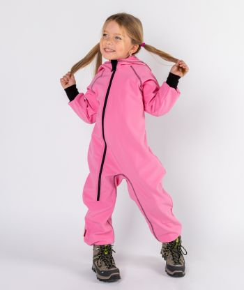 Waterproof Softshell Overall Comfy Candy Pink Jumpsuit
