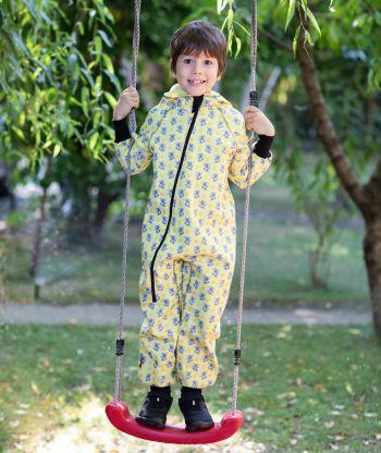 Waterproof Softshell Overall Comfy Koala Yellow Jumpsuit