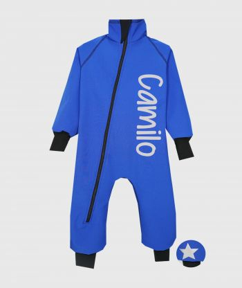 Waterproof Softshell Overall Comfy Blue Bodysuit