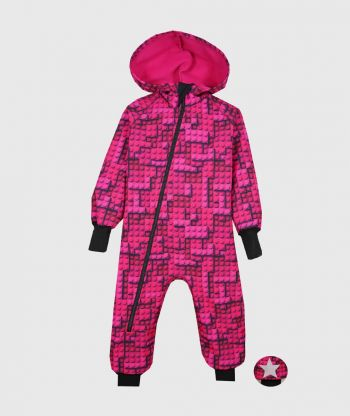 Waterproof Softshell Overall Comfy Lego Bricks Jumpsuit