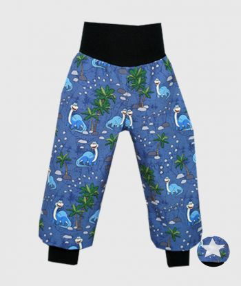 Waterproof Softshell Pants Joyful Dino Blue